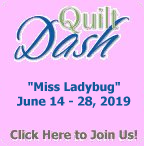 "Please join us for the June ""Miss Ladybug"" Quilt Dash"