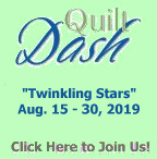 "Please join us for the August 2019 ""Twinkling Stars"" Quilt Dash"