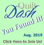 """You Found It! You've completed this portion of the August 2019 """"Twinkling Stars"""" Quilt Dash"""