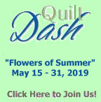 """Flowers of Summer"" May 2019 Quilt Dash Game"
